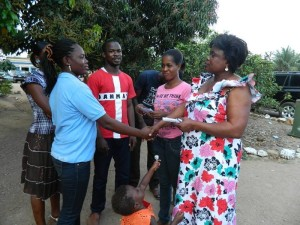 Founder of orphanage receives cash donation from Patriots Ghana
