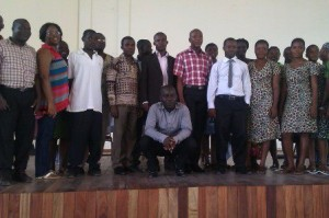 The team after the seminar