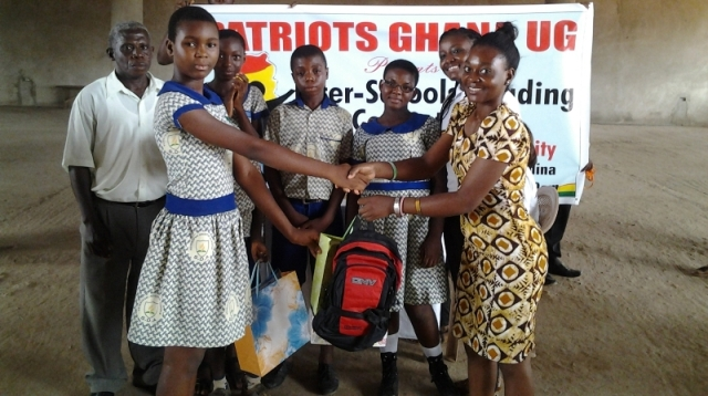 Former president of Patriots UG -Mamley presents award to SDA participants